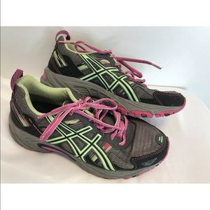 Asics Gel Venture 5 Sz 7.5 Lace Up Running Shoes